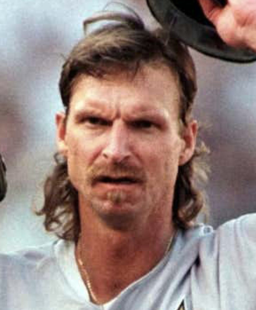 "Randy Johnson Former pitcher and ""mulletstache"" icon of professional baseball"